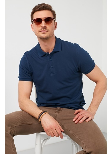 Buratti Buratti Polo Yaka Erkek T-Shirt 5902127 İndigo